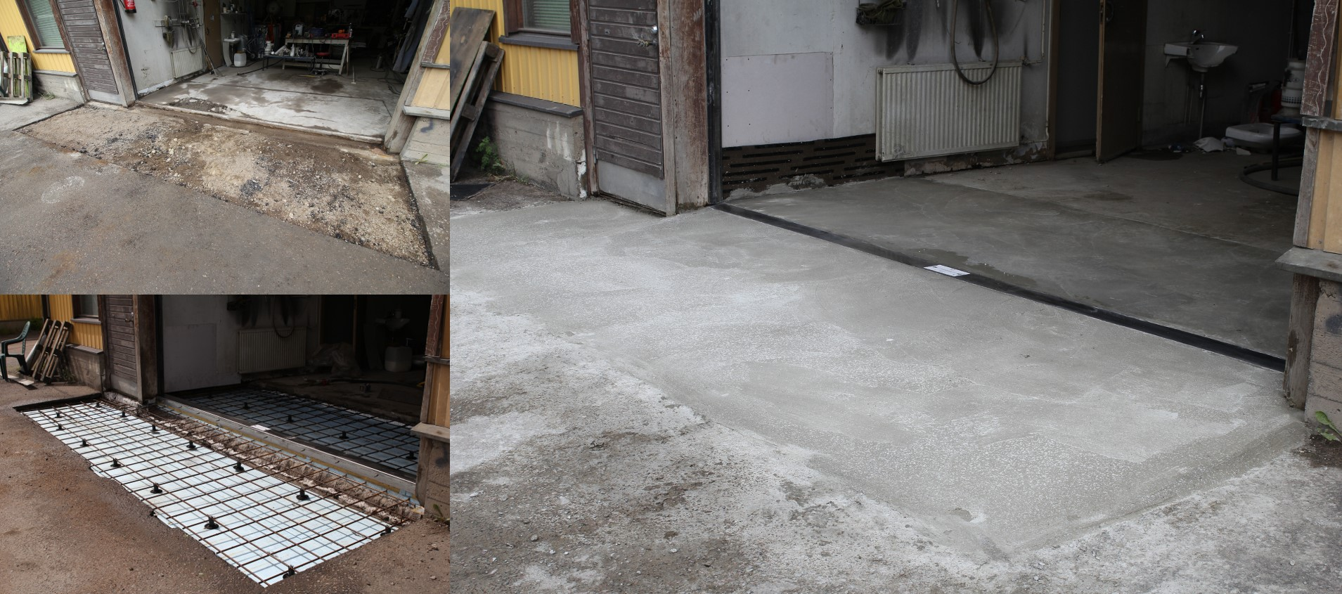 Repair of damaged old threshold with Thermokynnys HD-plus
